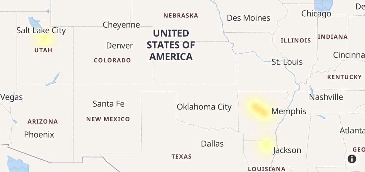 CW Network Outage Map - Outage.Report
