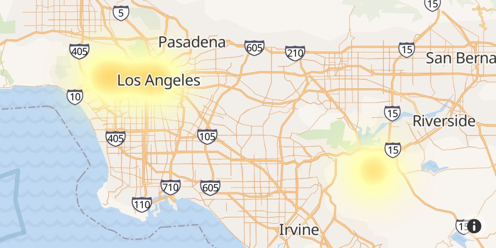 Cox Outage in North Hollywood, Los Angeles County, California
