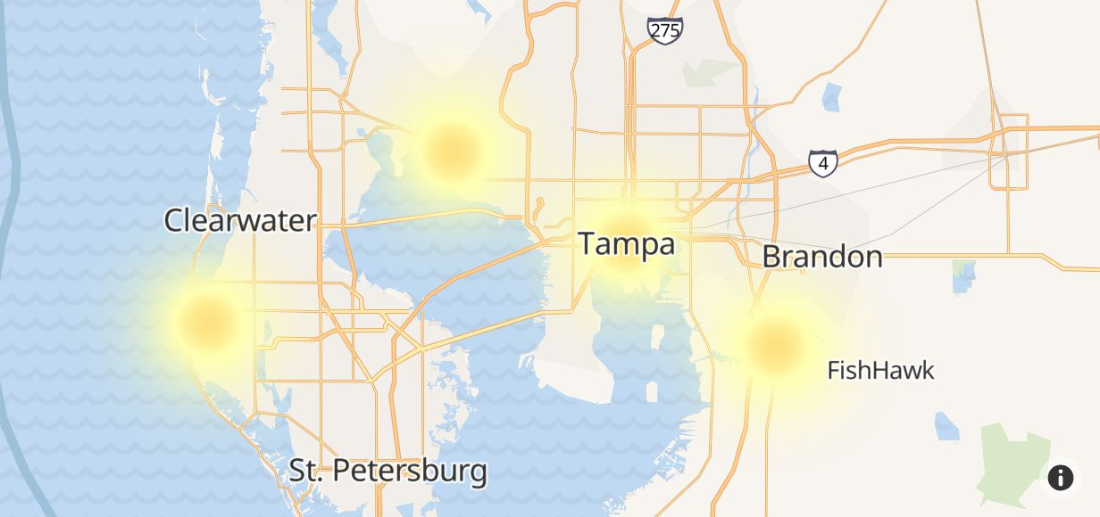 frontier outage in tampa  hillsborough county  florida