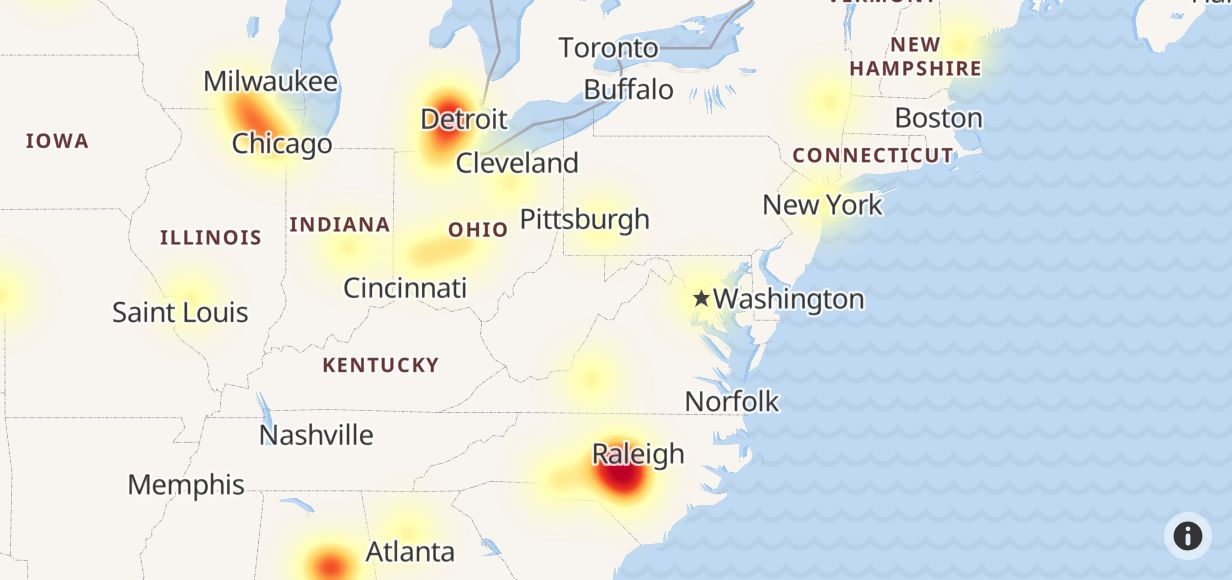 Spectrum Outage in North Carolina - Outage.Report
